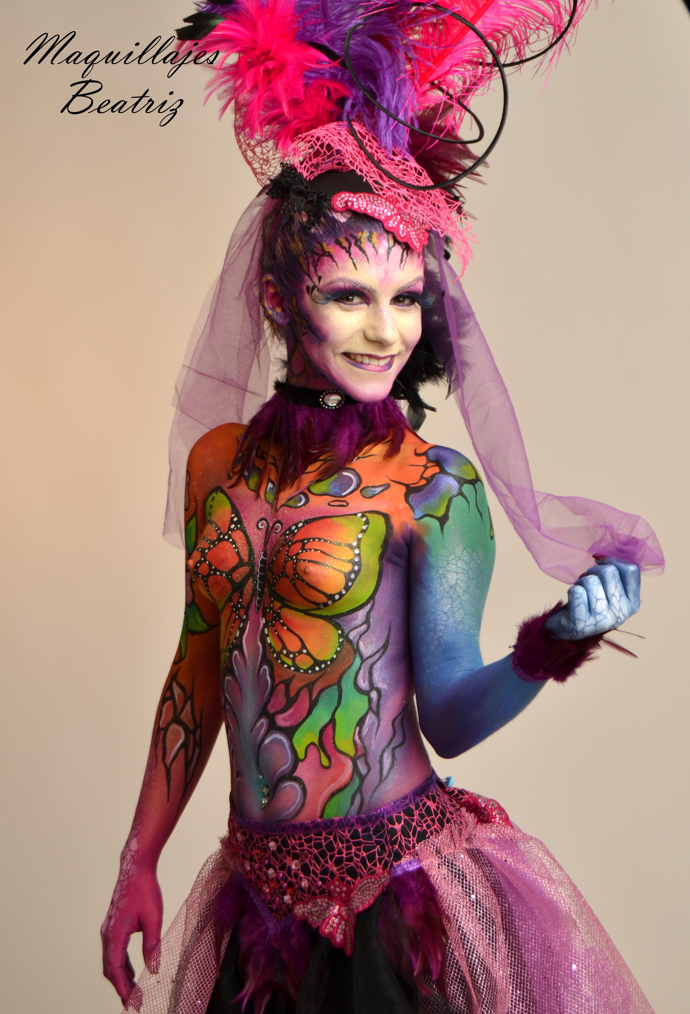 Maquillaje de fantasía realizado por Beatriz Martínez